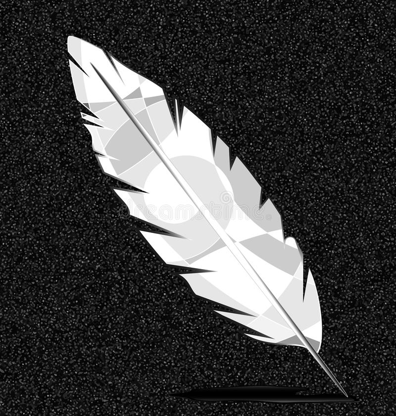 Gray and white feather vector illustration