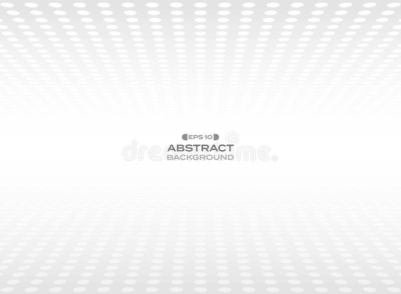 Abstract of gray dot patterns in perspective view background royalty free illustration