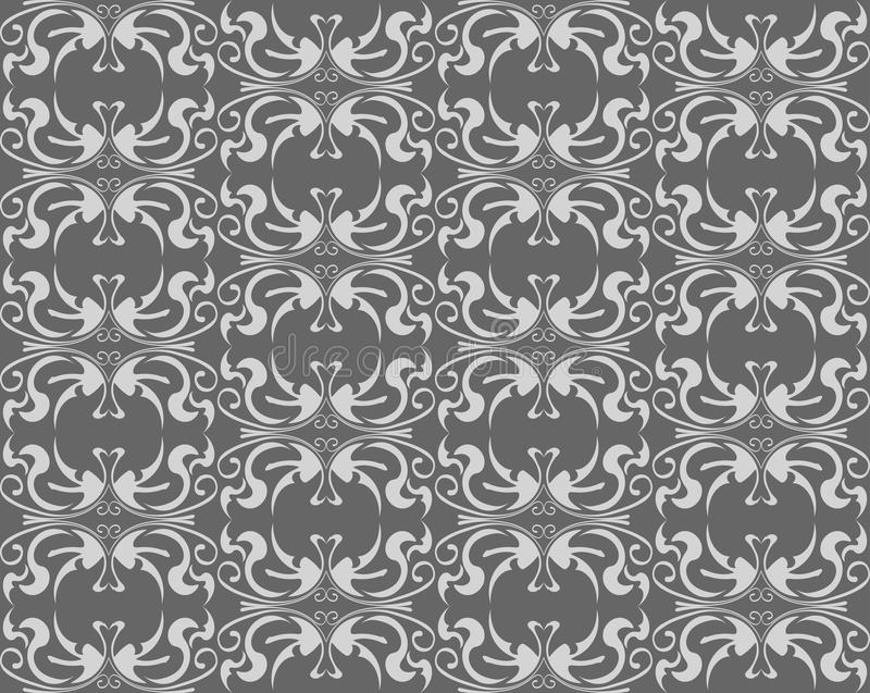 Download Abstract Gray Floral Seamless Stock Vector - Illustration of design, graphic: 25321022