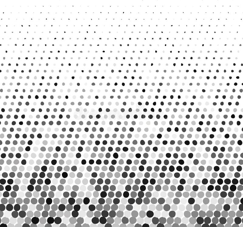 Abstract gray halftone background with curved dots vector illustration
