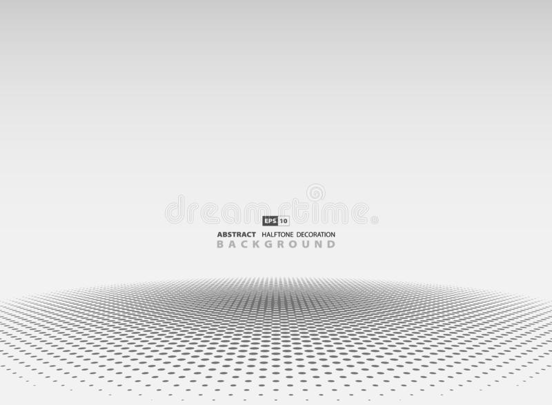 Abstract gray halftone circle decoration background. illustration vector eps10 stock illustration