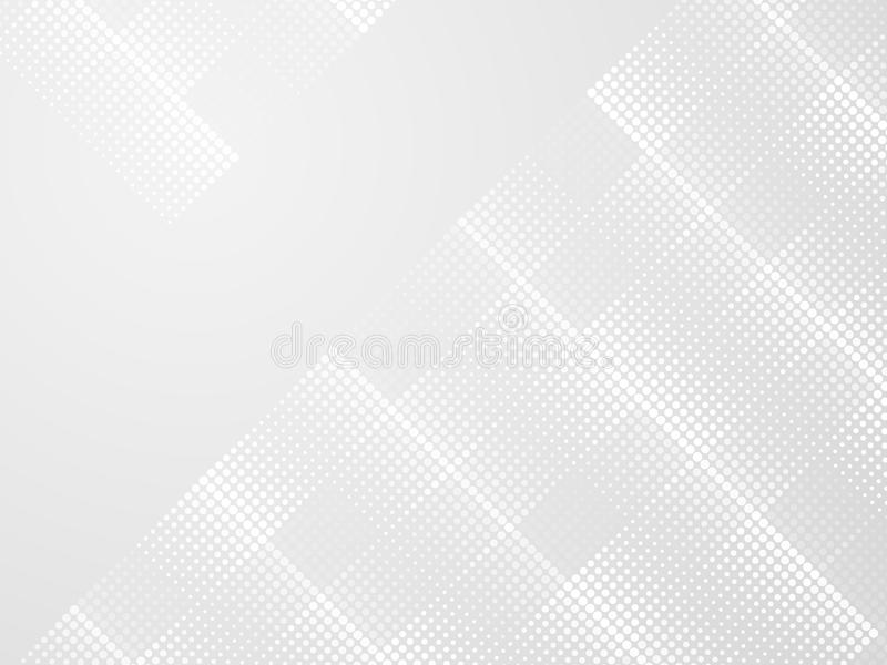 Abstract gray halftone dots background royalty free illustration
