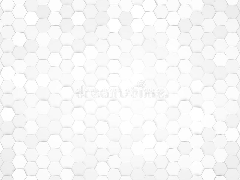 Abstract gray hexagonal design background stock illustration