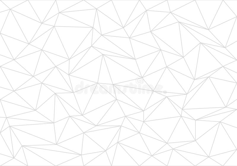 Abstract gray line triangle polygon on white background vector vector illustration