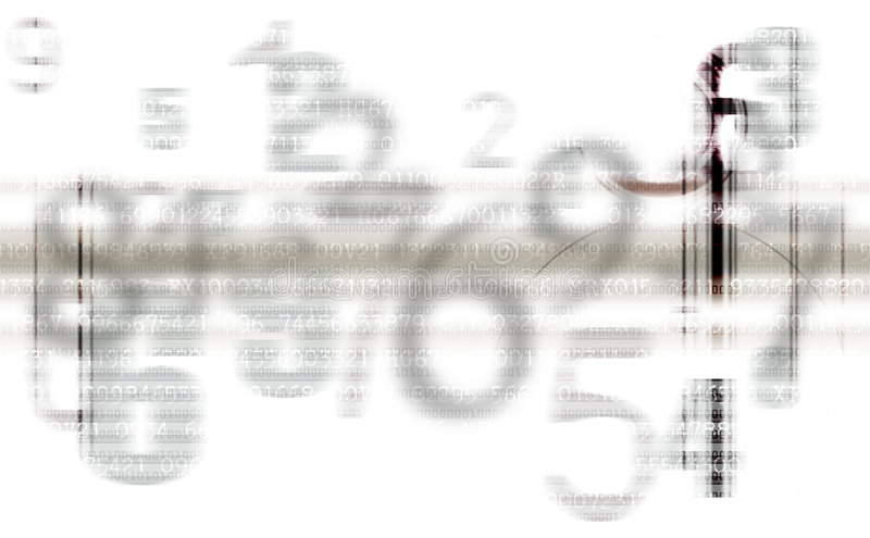 Abstract Gray numbers background stock illustration