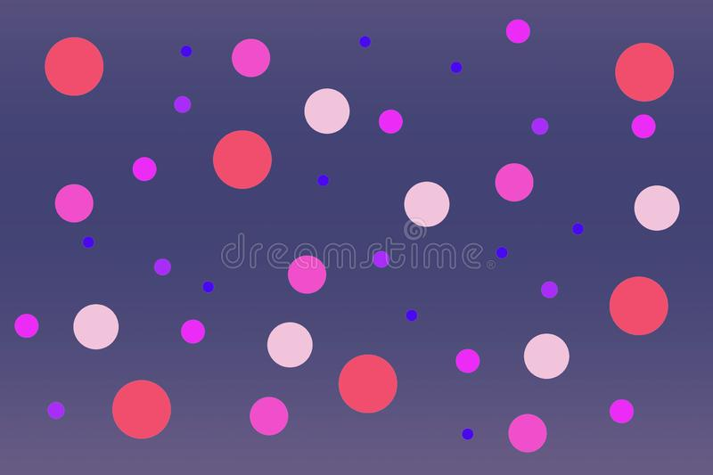 Abstract, gray, paper, background, circles, lilac, purple, hue,. Abstract gray paper background with circles of lilac and violet hue. Design blank, space design royalty free illustration