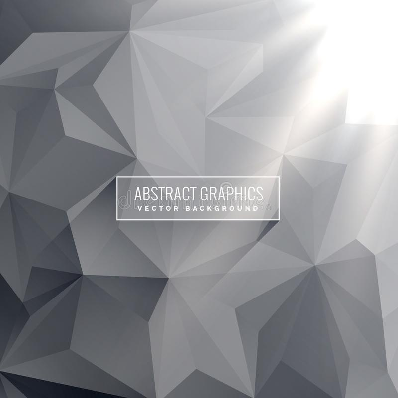 Abstract gray triangle background vector design royalty free illustration
