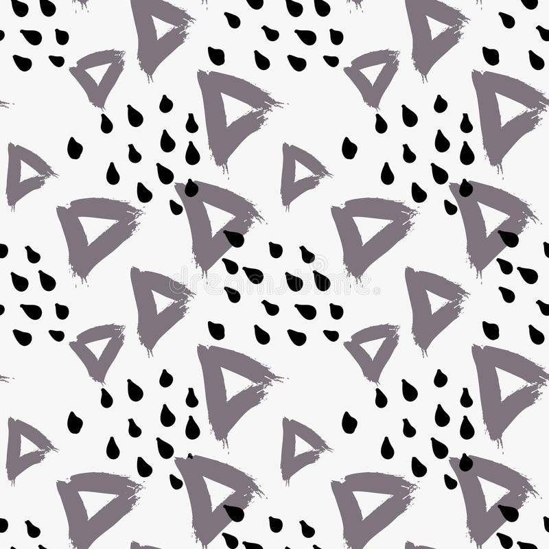 Abstract gray triangle with dots royalty free illustration