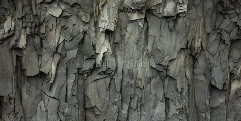 Abstract Gray Volcanic Rock Texture Background stock afbeelding
