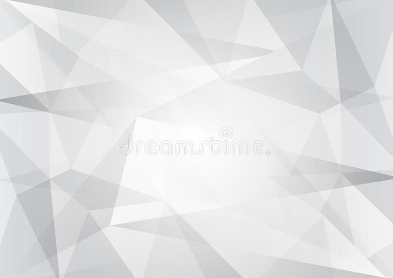 Abstract gray and white color low poly, vector background, geometric illustration with gradient Triangular for your business desig stock illustration
