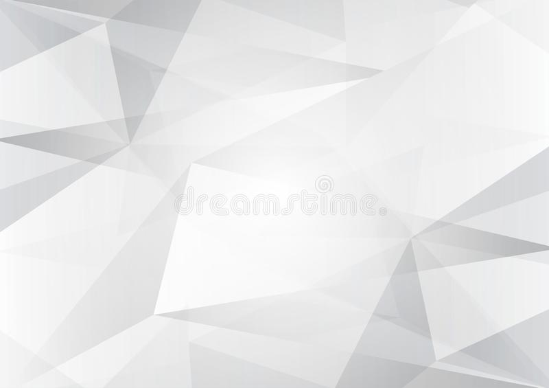 Abstract gray and white color low poly, vector background illustration with copy space.  stock illustration