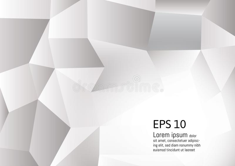 Abstract Gray and white color polygon background, Vector illustration royalty free illustration