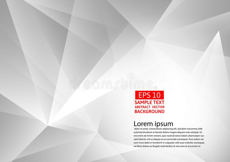 Abstract gray and white geometric background, Vector illustration with copy space.  vector illustration