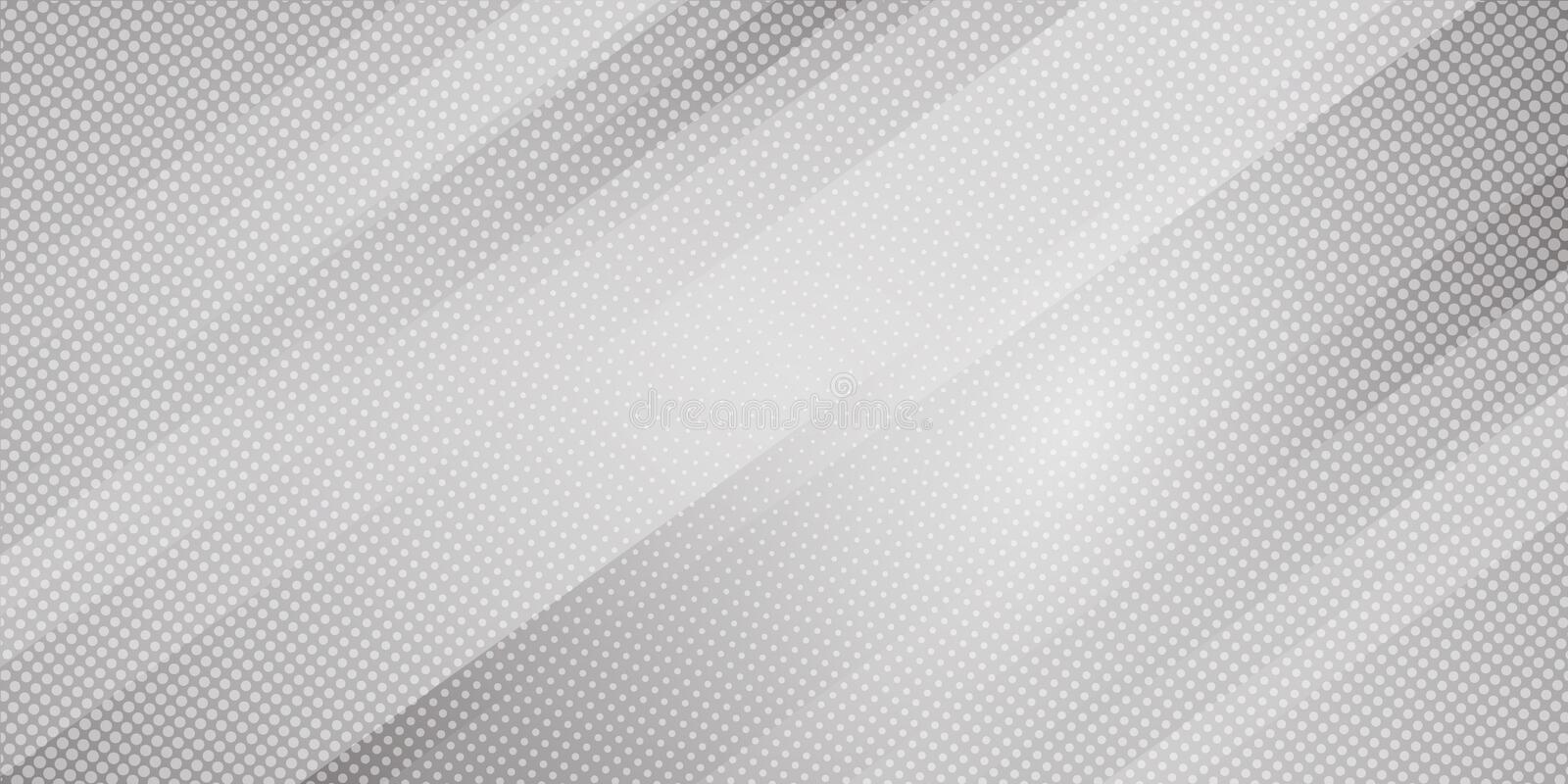 Abstract gray and white gradient color oblique lines stripes background and dots texture halftone style. Geometric minimal pattern royalty free illustration