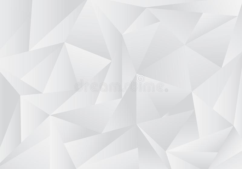Abstract gray and white low polygon or triangles pattern background and texture royalty free illustration