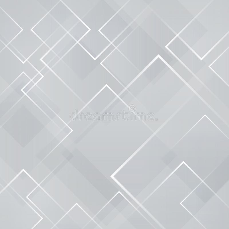 Abstract gray and white square shape technology laser background. Vector illustration royalty free illustration