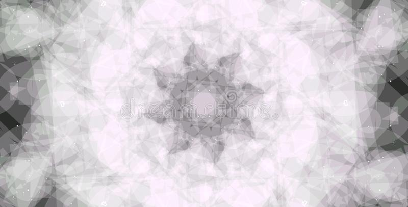 Abstract Grayscale geometric background. Geometric shapes creative design with black background. Cloud vector illustration
