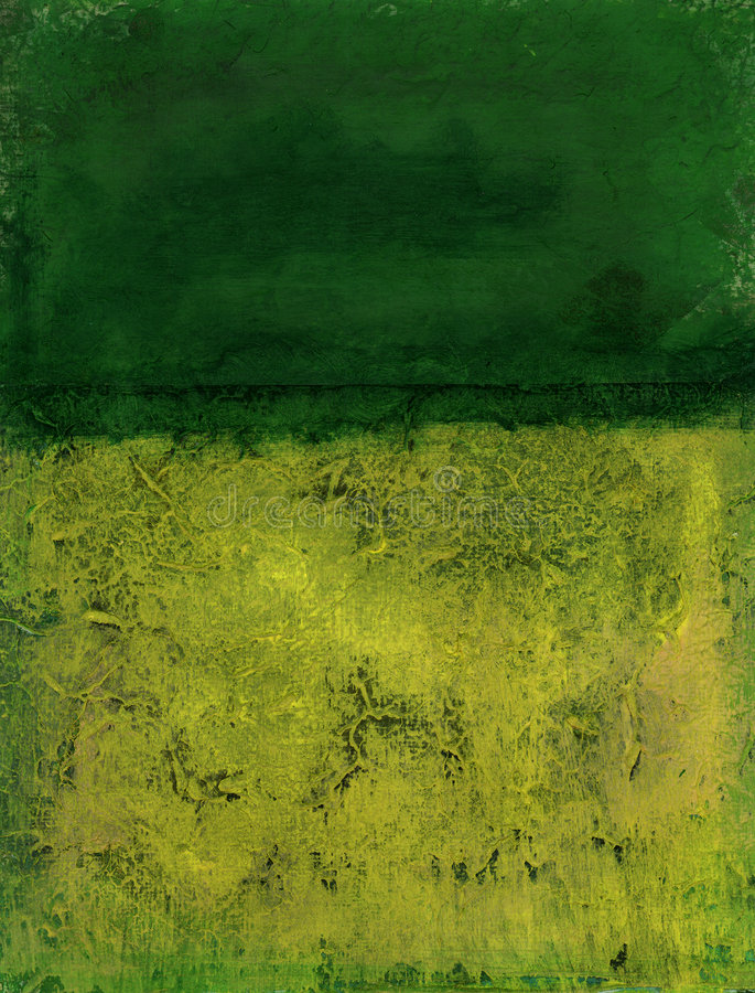 Abstract Green. Abstract two toned painting with greens and yellows
