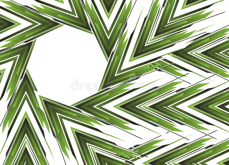 Abstract green arrow banner royalty free illustration