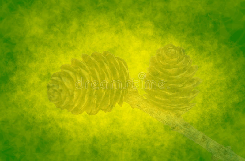 Download Abstract Green Background With Cones Royalty Free Stock Images - Image: 18228349