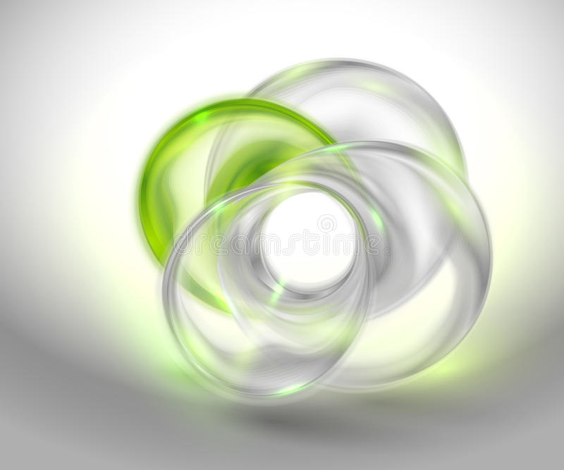 Download Abstract Green Background With Glass Round Shape Stock Vector - Image: 25243807