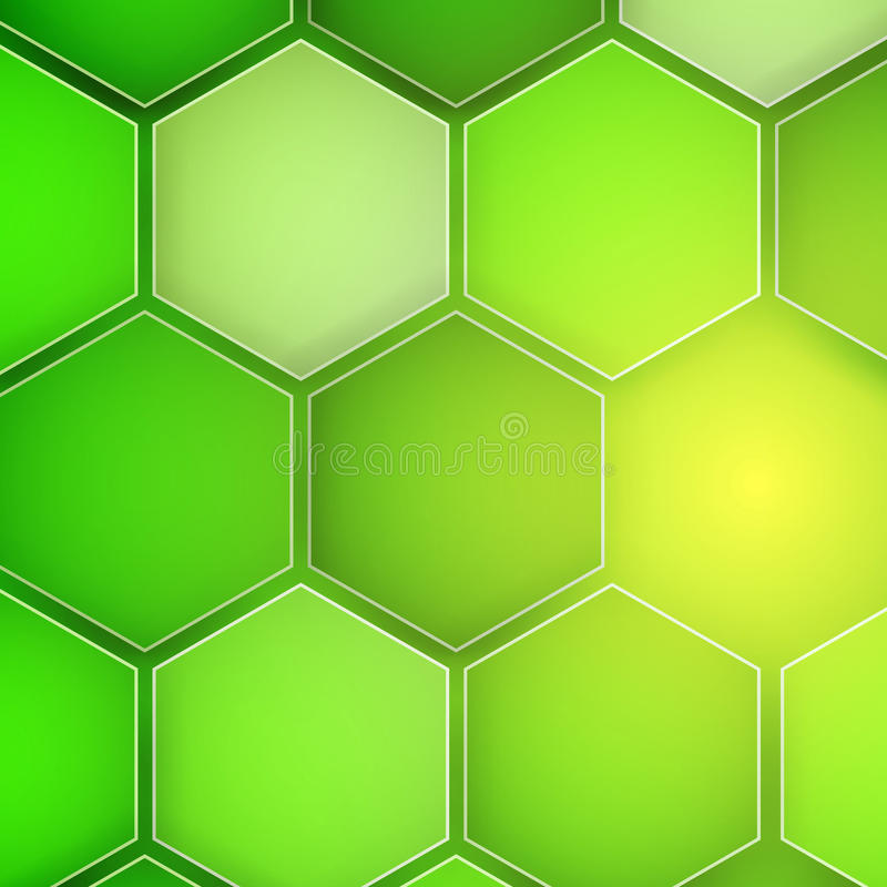 Abstract green background hexagon. Vector illustration royalty free illustration