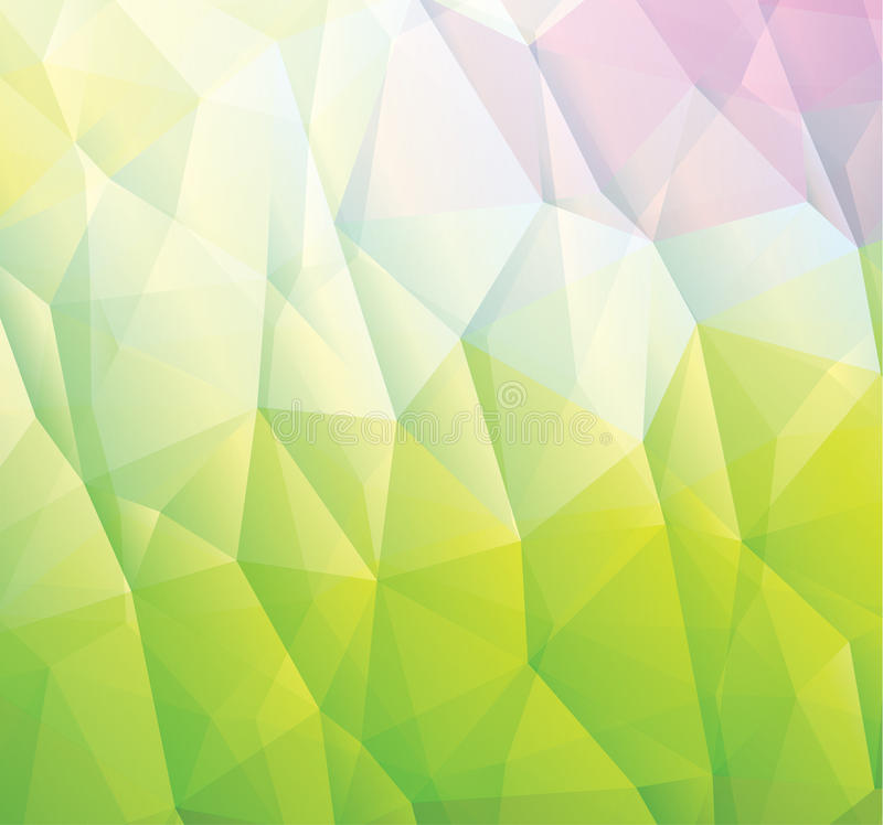 Abstract green background made from triangles vector illustration