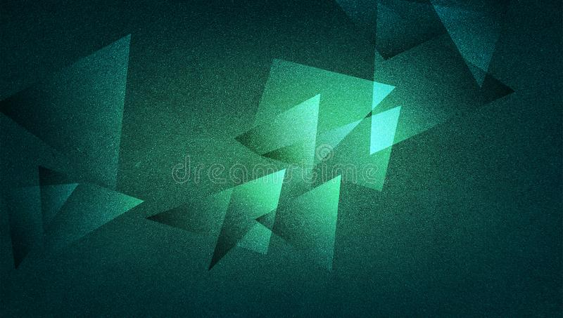 Abstract green background shaded striped pattern and blocks in diagonal lines with vintage green texture. vector illustration
