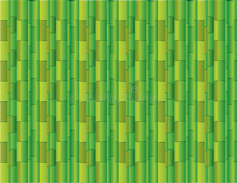 Abstract green background using many straight bamboos for presentation vector stock illustration