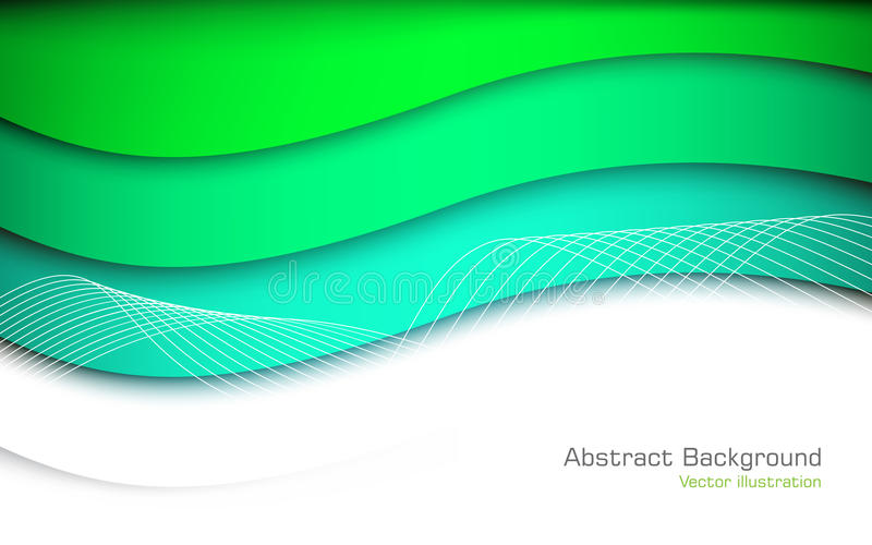 Abstract green background. Vector. Clip-art stock illustration