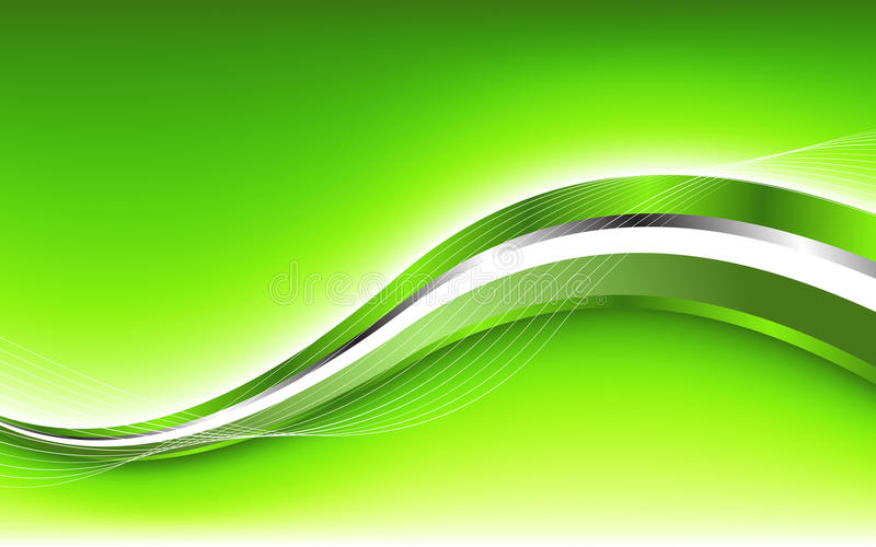 Abstract green background with wave. Clip-art stock illustration