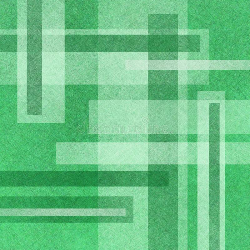 Abstract green background with white rectangles in abstract layout stock image