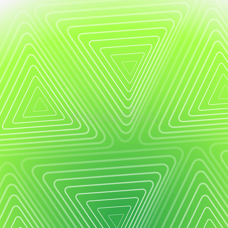 Abstract Green Background With White Triangles royalty free illustration