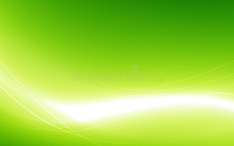 Abstract green background with white wave. Vector illustration. Clip-art stock illustration