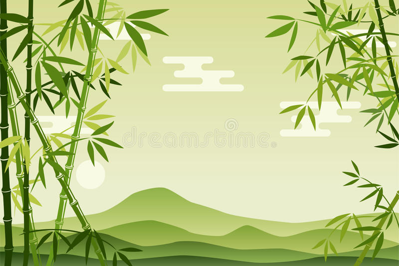 Download Abstract Green Bamboo Background Stock Vector - Image: 16228961
