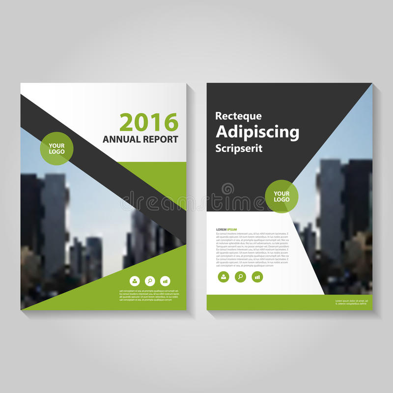 Abstract Green Black Annual Report Leaflet Brochure Flyer Template