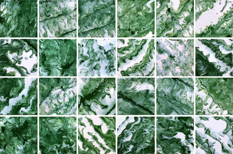 Abstract green blotches. Mosaic tiles background, square vector texture. Abstract green blotches. Mosaic tiles background, square vector texture stock illustration