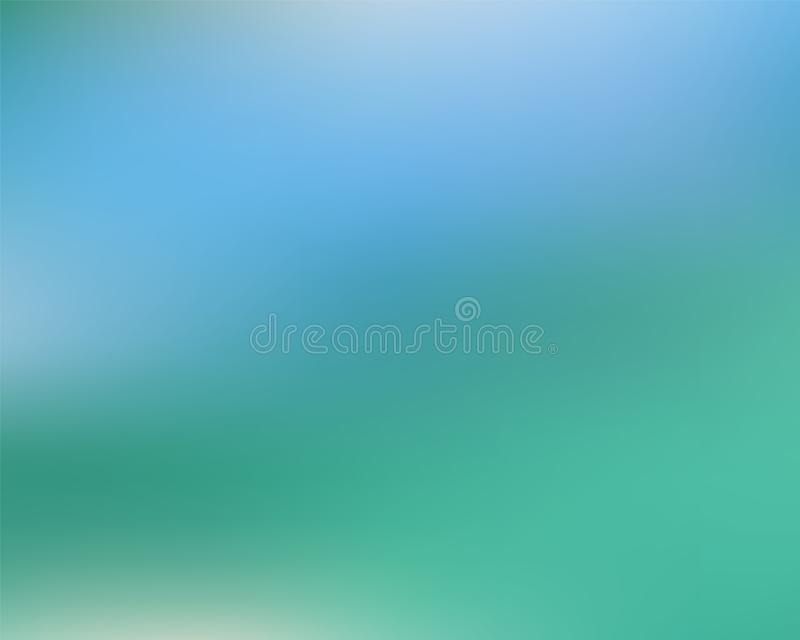 Abstract green blue blur backdrop stock illustration
