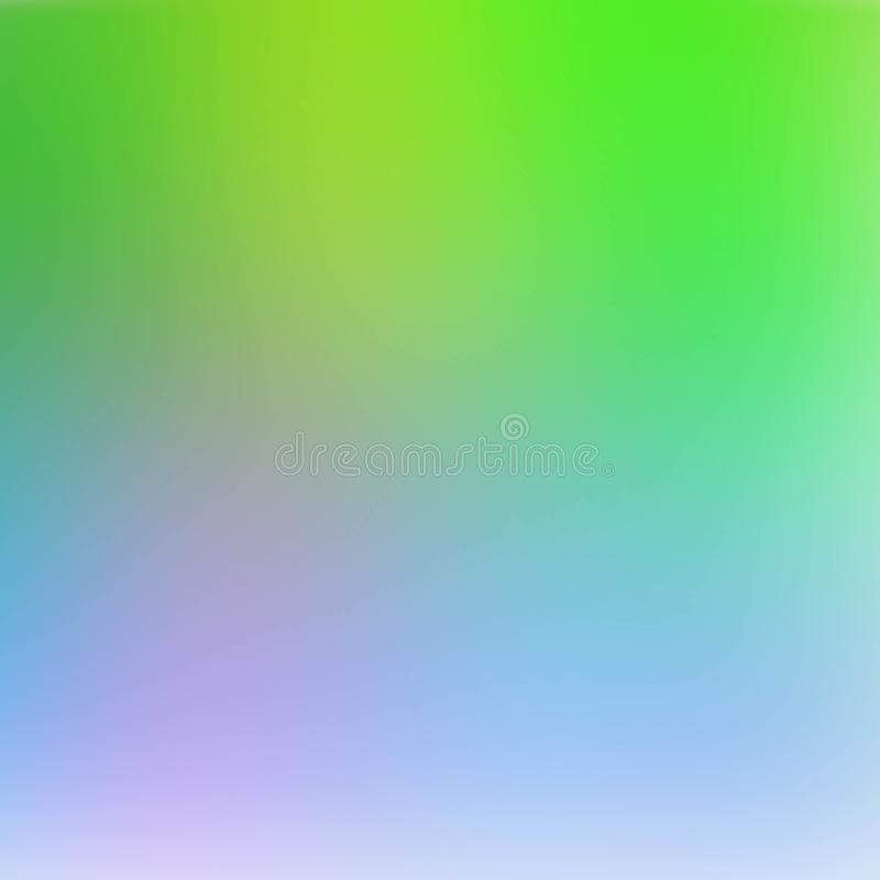 Abstract green and blue blurred gradient background with light. Nature backdrop. Vector illustration. Ecology concept for your. Graphic design, banner or poster stock illustration