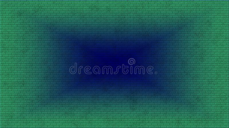 Abstract green and blue brick and texture background. Abstract green and blue brick and texture background design with elegant antique paint on wall stock images