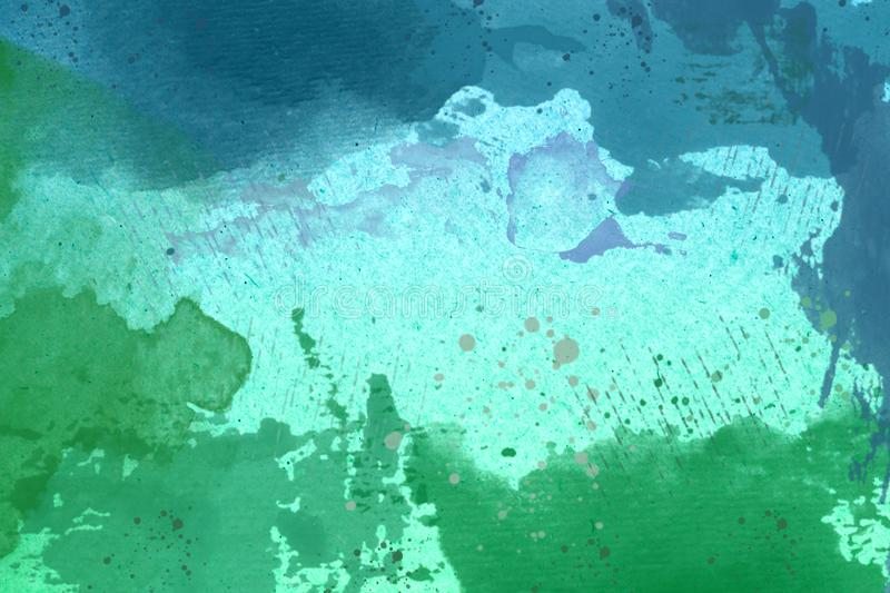 Abstract Green and Blue Watercolor Background royalty free stock image