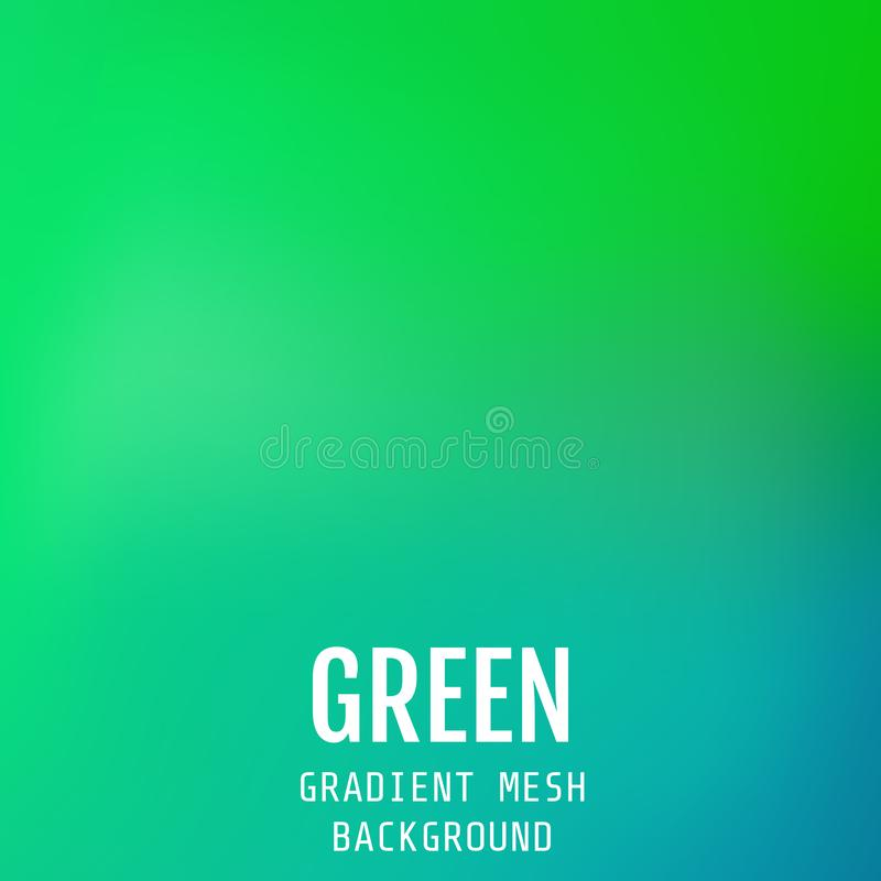 Abstract green bright gradient mesh oriental wave background. Mo royalty free illustration