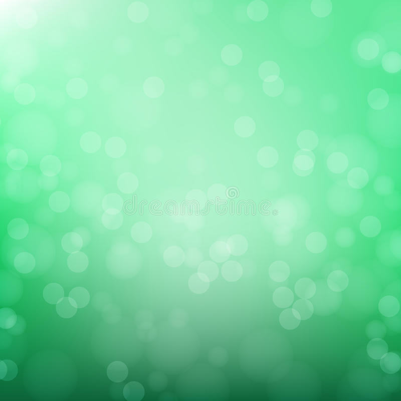 Abstract green circular bokeh background stock photo