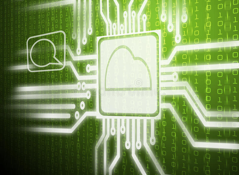 Abstract green cloud computing. For background design royalty free stock photo