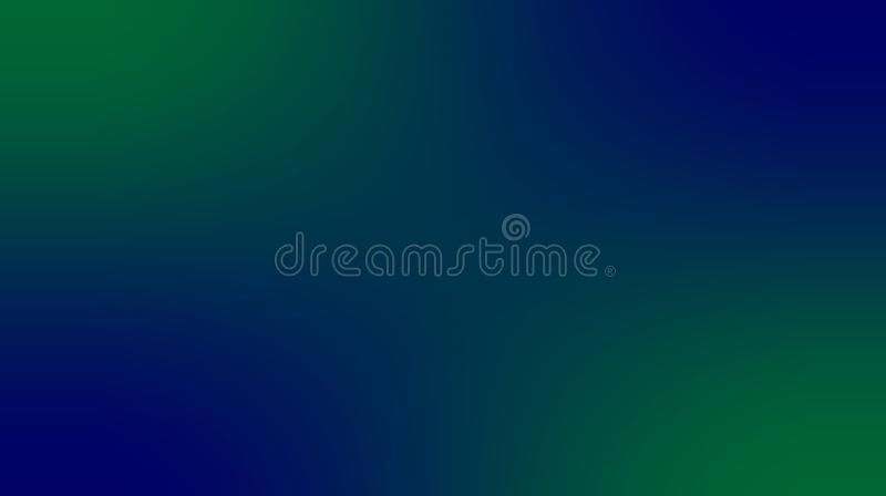 Abstract green color, deep navy blue color, multi colors blurred shaded effects background. stock illustration