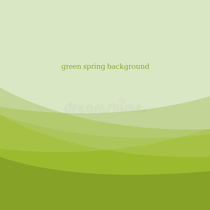 Abstract green color modern background design. royalty free illustration