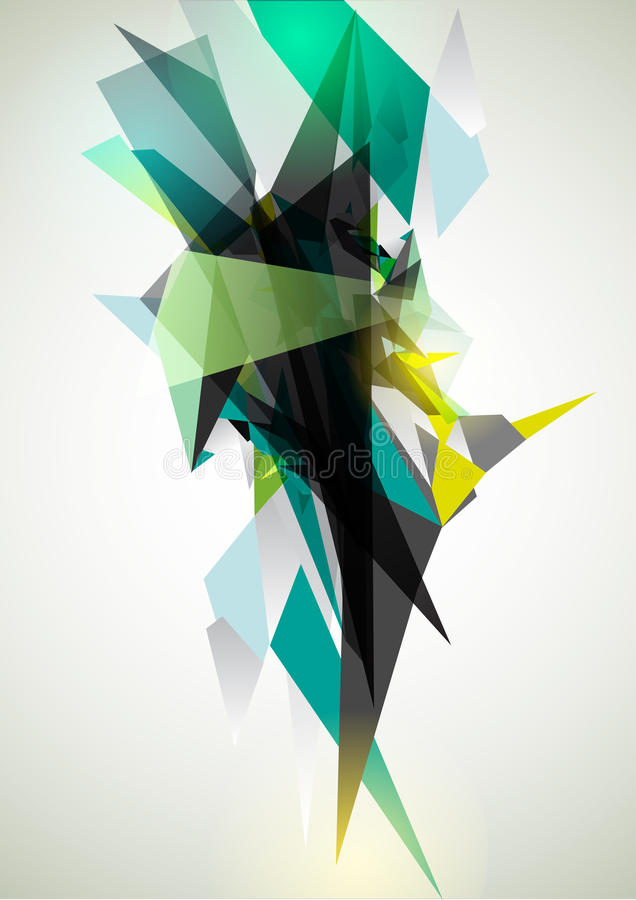 Abstract green element stock illustration