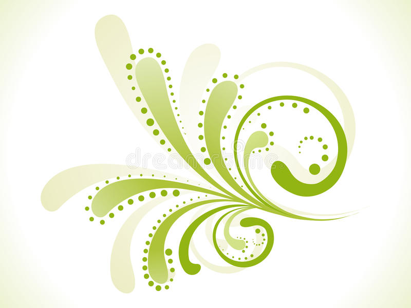 Abstract green floral stock illustration