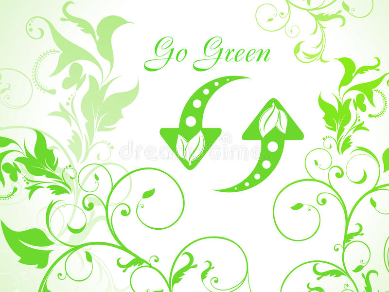 Download Abstract Green Floral Background With Refresh Icon Stock Image - Image: 19128551