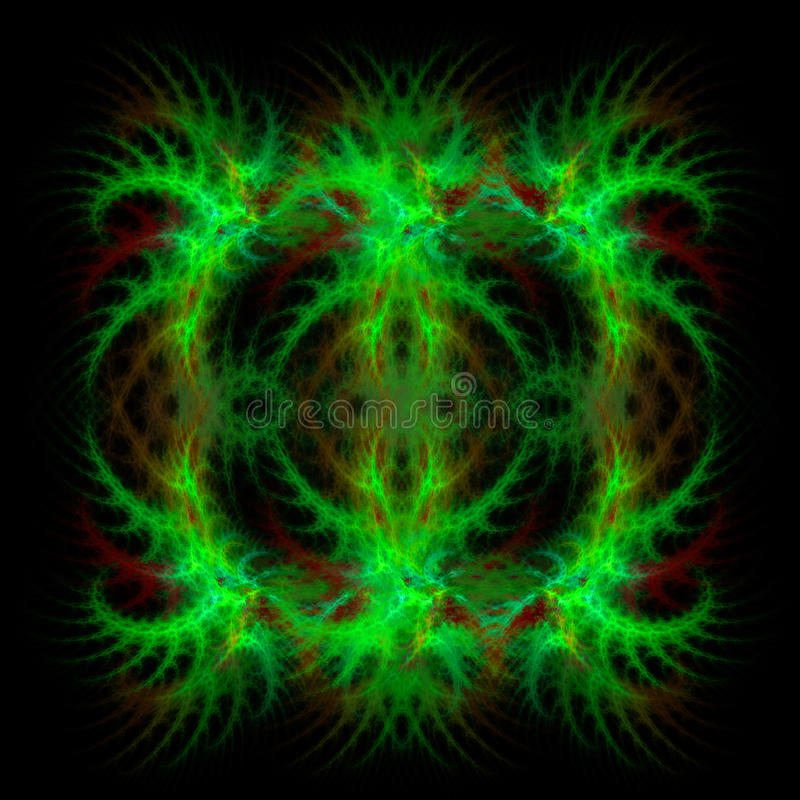 Download Abstract Green Floral Fractal Background Stock Illustration - Image: 11105342